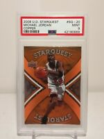 🐐Michael Jordan 2008 09 UD Starquest Copper #SQ-20 PSA 9👀🔥(LOW POP 6)🔥