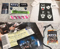 KISS MONSTER VIP CONCERT TOUR LOT T-SHIRT, PICKS, POSTER, BAGS, LANYARD, CARD +