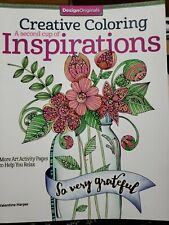 Creative Adult Coloring Book Inspirations Art Activity Pages Relax Enjoy inspire