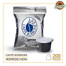200 Capsules de café Borbone Respresso Mélange Noir et compatible