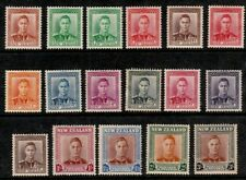 NEW ZEALAND 1938-1947 KING GEORGE PORTRAIT STAMPS TO 3 SHILLINGS MINT