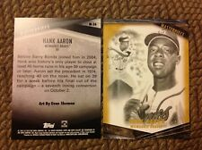 Hank Aaron #M-26 Braves HOF #ed/10 made 2018 Topps Gallery Masterpiece 5x7
