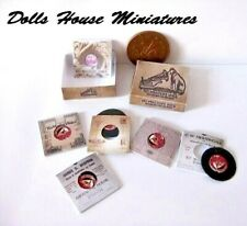 HMV GRAMOPHONE RECORDS dolls house miniatures