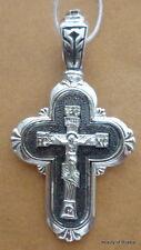 PLATA DE LEY 282m COLGANTE DE CRUZ Consecrated to the Relics of St George 21s