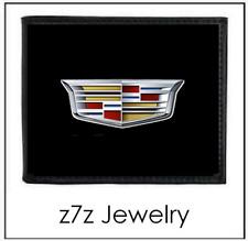 CADILLAC Logo Emblem Wallet - bifold black leather w/ caddie medallion auto z7qq