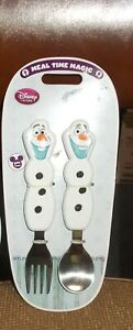 DISNEY FROZEN OLAF FORK AND SPOON SET NEW FROZEN  DESIGN REAL DISNEY PRODUCT