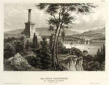WEST POINT (NEW YORK) - KOSCIUSZKO-MONUMENT - Stahlstich 1833