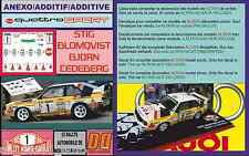 ANEXO DECAL 1/43 AUDI QUATTRO SPORT HB S.BLOMQVIST R.MOTECARLO 1985 (01)