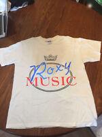 Vintage RARE-ROXY MUSIC t-shirt gildan reprint