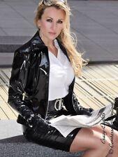 Lackjacke verni veste blouson noir brillant vinyle Léviathans