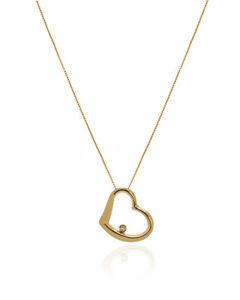 Roberto Coin Tiny Treasures 18k Yellow Gold Diamond Necklace 023204AYCHX0 $760