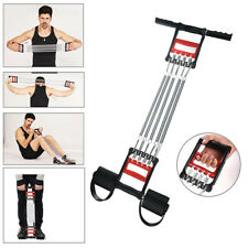 NEW 5 Spring Chest Arm Pull Expander Fitness Gym Muscle Training Stretch Workout