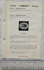 Vintage leaflet: Swedish Arkits Basketry - cake dish 3 & 4