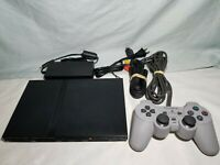 Sony PlayStation 2 PS2 Slim Console System + Cables & 1 Controller SCPH-79001