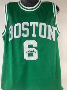 "Bill Russell ""#6"" Signed Boston Celtics Custom Autographed Jersey JSA COA"