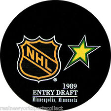 1989 NHL DRAFT SOUVENIR PUCK MINNESOTA MATS SUNDIN NICKLAS LIDSTROM RARE