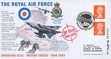 "IK03-RAF5 FDC ROYAUME-UNI ""Opération TELIC - Guerre IRAK / Avion TORNADO"" 2003"