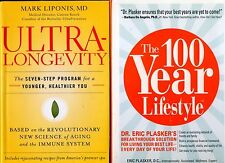 2 books: Ultra-Longevity & The 100 Year Lifestyle -Free Shipping!