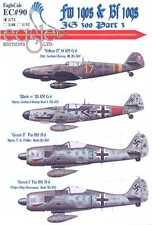 EagleCals Decals 1/72 JG-300 Focke Wulf Fw-190 & Messerschmitt Bf-109 Part 3