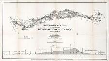 1866 Map Honduras Interoceanic Railway Wall Art Poster Decor Vintage History