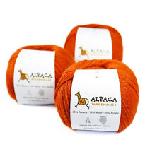 Blend Alpaca Yarn Wool Set of 3 Skeins Fingering Weight