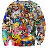 Anime Super Mario Men Women 3D Print casual Hoodies Pullover Top Sweatshirt