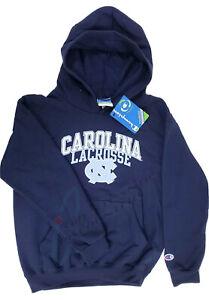 UNC North Carolina Tar Heels Lacrosse Blue Pullover Hoodie Sweatshirt Kid Medium