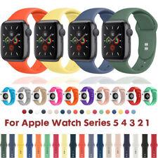 Für Apple Watch Series 5 4 3 2 1 Silikon Ersatz Band Sport Armband 38 40 42 44mm
