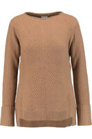 Vince Womens XXS Brown Sweater Cable Knit Wool Pullover Crew Neck Pullover Shirt