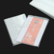 10 Pcs Clear Soft Plastic ID Card Sleeves Protectors Trading Cards Protector