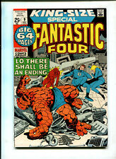 """FANTASTIC 4 #9 (7.5) """"KING SIZE/BIG 64/ LO, THERE SHALL BE AN ENDING!"""" 1971!"""