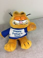 """Garfield Toy stuffed plush Fathers Day Hanging 1981 Gift 10"""" VTG Cat Car"""