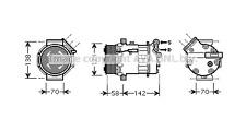 VAUXHALL VECTRA C 1.9 CDTI AIRCON COMPRESSOR 03-ON