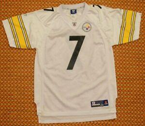 Pittsburgh Steelers NFL Football Jersey by Reebok, #7 Roethlisberger, Boys XL