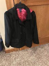 Girls Pre-teen Dress Coat Size 10/12 Falls Creek Pink And Black Super Cute!