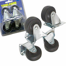 40mm Castor Wheels. Furniture Castor Wheels 2 Fixed Castors 2 Swivel Castors