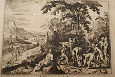 GRAVURE SUR CUIVRE JOSEPH VENDU-BIBLE 1670 LEMAISTRE DE SACY  (B23)