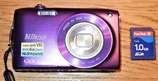 Nikon COOLPIX S3300 16,0 MP Digitalkamera - Violett inkl. SD-Karte in OVP