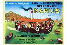 PLAQUE METAL 38X28 cm AFFICHE FILM MARIUS DE MARCEL PAGNOL DESSIN DUBOUT