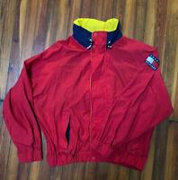 Vintage 90s Tommy Hilfiger Red Sailing Windbreaker Full Zip Jacket Men's Size XL