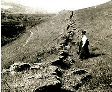 8x10 photo of the San Andeas Fault in 1906, California