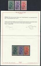 (TV00087) Italia 1945 Brigata Alta Italia cert. Raybaudi stamps