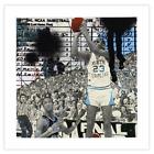 1XRun Marly McFly Michael Jordan UNC The Shot Print NEW COA Edition of 82