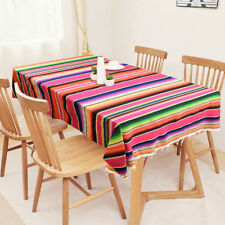 Mexican Serape Tablecloth Party Wed Blanket Cotton Table Runner Picnic Cover