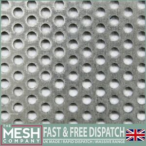 Aluminium (3mm Hole x 5mm Pitch x 1mm Thick) Perforated Mesh Sheet Plate