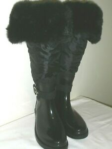 Black Long Snow Boots Fully Lined