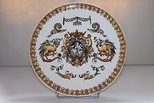 Faïence de Gien: Plat de présentation décor Renaissance Italienne 30.5 cm