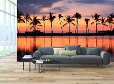 Paradise beach sunset Mural Photo Wallpaper Decor Paper Wall Background 3D