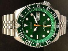 SEIKO DIVER 7S26-0020 SKX007 SUNBURST GREEN MOD AUTOMATIC WATCH 820617
