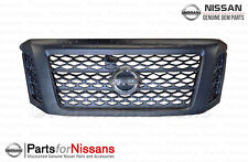 Genuine Nissan Titan XD Midnight Edition Grille Assembly 62310-EZ55D NEW OEM